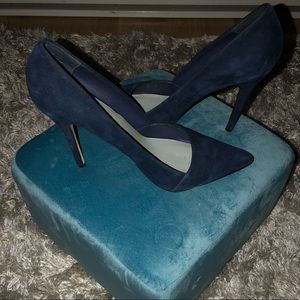 Kate & Mel Legally Navy Suede Pumps